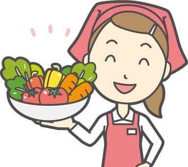 Female supermarket clerk -358-bust