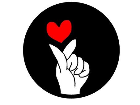 Icon finger heart