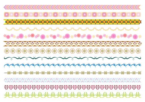 26-line, decorative line set 6 color A