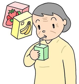 Elderly people, nutritional support (お 婆 ver.)