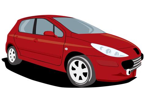 Wine red car