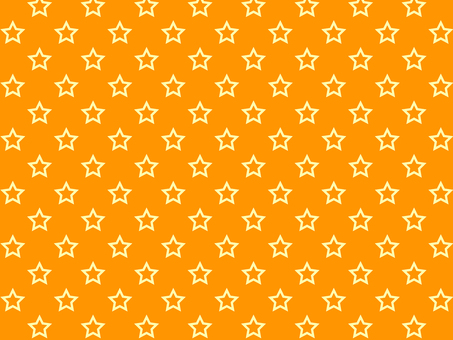 ai hollow star pattern with swatch background orange