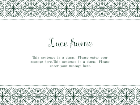 Lace frame 02 / green