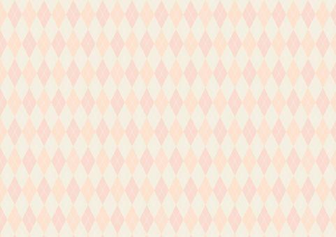 Argyle pattern (orange)