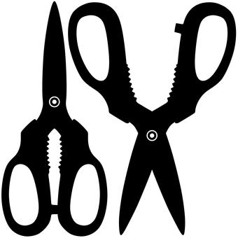 Silhouette kitchen scissors