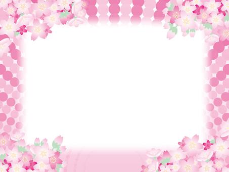 Wide Frame (90) Spring Dot Spot Dot Pink