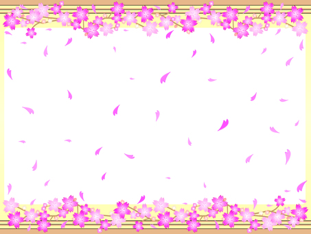 Simple 6 lines cherry frame 03