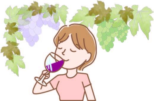 와인을 마시는 여성