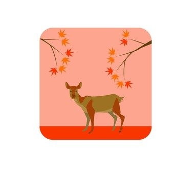 Deer and autumn leaves