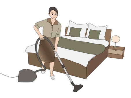 Cleaning with a vacuum cleaner 03