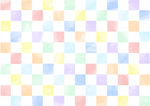 Hand drawn style colorful checkered pattern