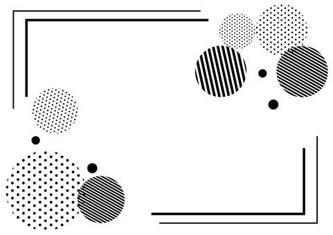 Monochrome polka dots
