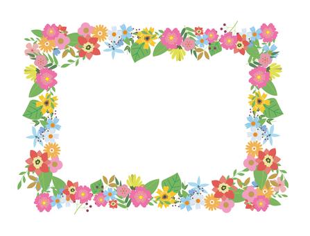 Flower frame material