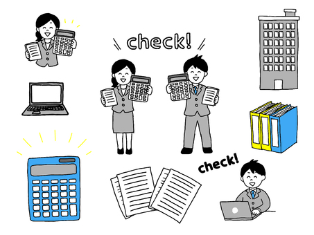 Accountant / Clerical Staff Set (Simple)
