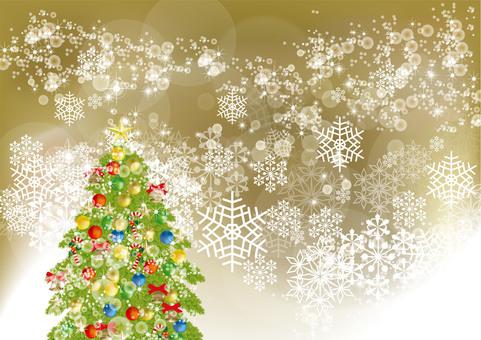 Christmas tree & snow 15