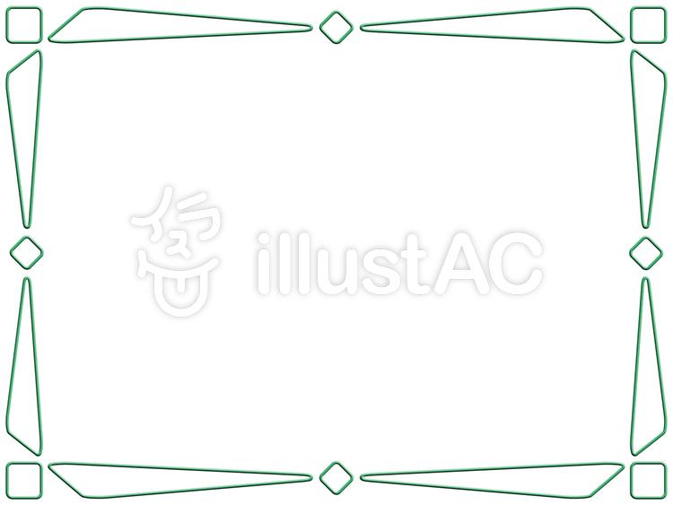 線画フレームシンプル飾り枠イラスト素材イラスト No 1152700無料