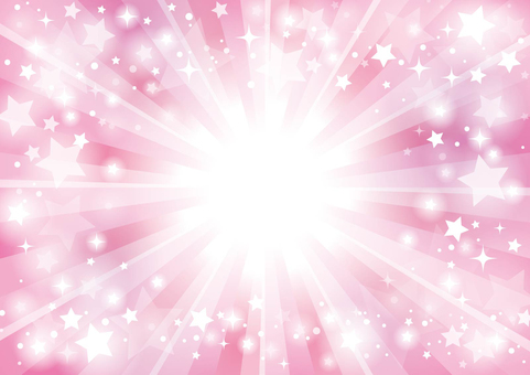 星の集中線背景09