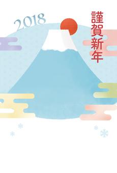 New Year cards 2018 【Mt. Fuji and Kasumi】