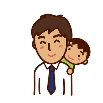 Father who is piggybacked