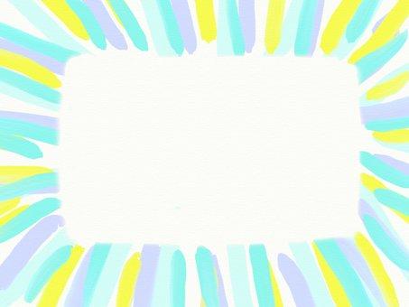 Hand-drawn wind-stripe frame