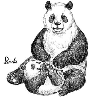 Panda parent-child