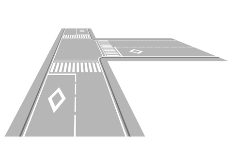 Road with intersection 3