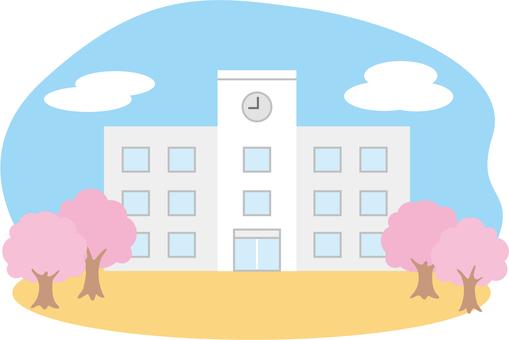 Sakura school building