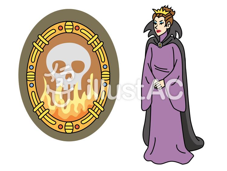 白雪姫2魔法の鏡と邪悪な女王イラスト No 1265755無料