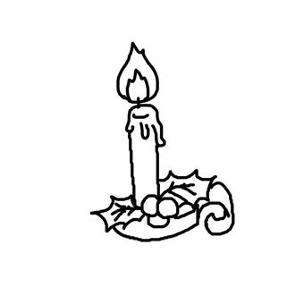 Christmas candle 1