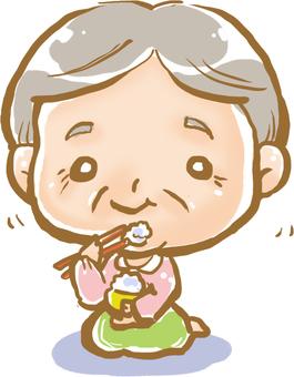 Grandma's smiley meal ☆