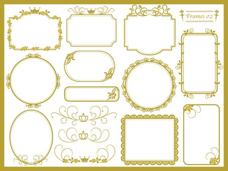 Gold elegant frame various