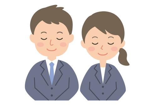 Men and women AH set suit 2 upper body
