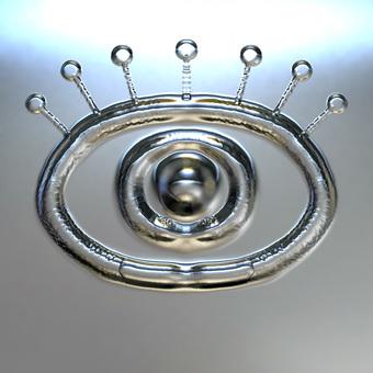 Eye pattern - Silver metal plate