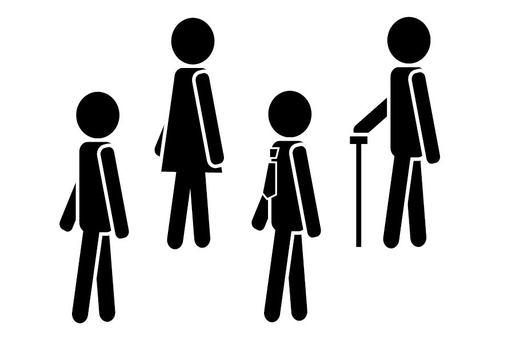 步行人像形圖