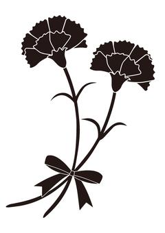 Carnation silhouette