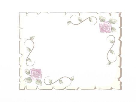 復古紙和藤製框架
