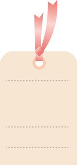 Ribbon tag label Pink