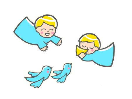 행복 _ 천사 _ 작은 새