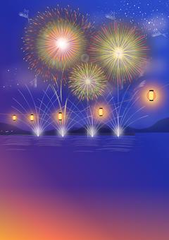 Fireworks display Summer festival background
