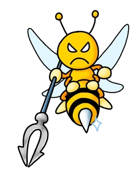 Bee with a spear