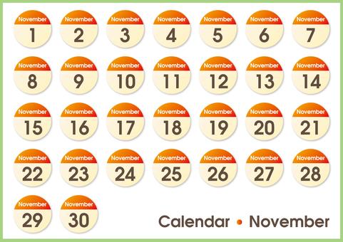 Calendar circle November