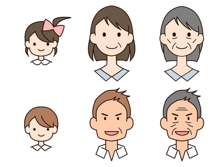 Male female generation 3 types set