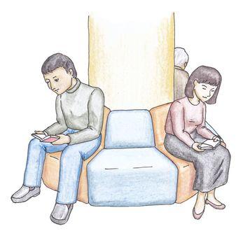 Library user · sofa