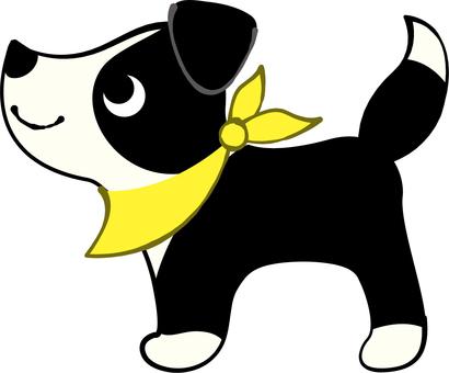Border Collie dog scarf Yellow