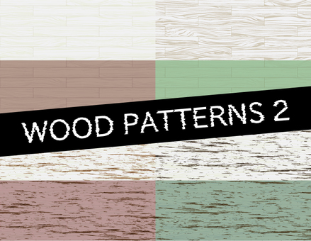 Wood grain pattern 2_ Stitches on board Plain and tear _ Color