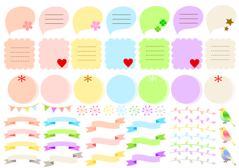 Assorted balloon notepad etc