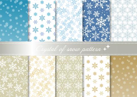 Pattern set 050 snowflake