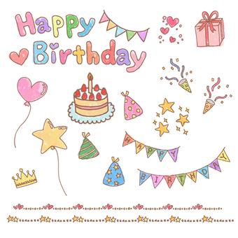 Birthday related illustrations