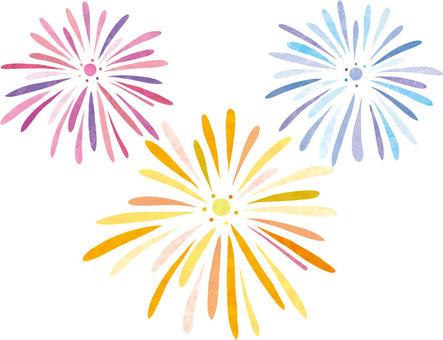 Fireworks handwriting set 01