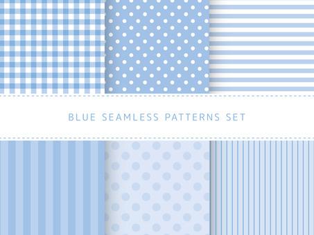 Light blue seamless pattern set
